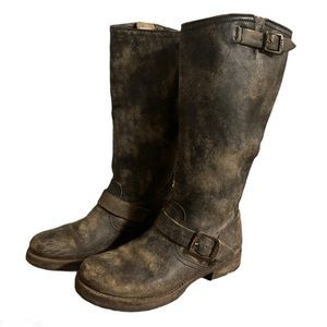 Frye Distressed Leather Boots - Women's Size 7